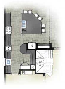 Back Kitchen - KGA Studio Architects, PC