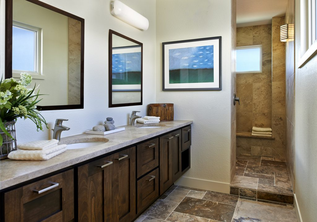 Master Bath with Spa Shower - by KGA Studio Architects, PC