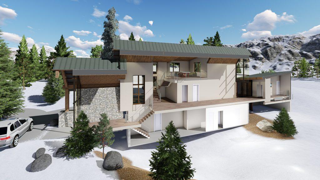 Mountain Modern Home Section