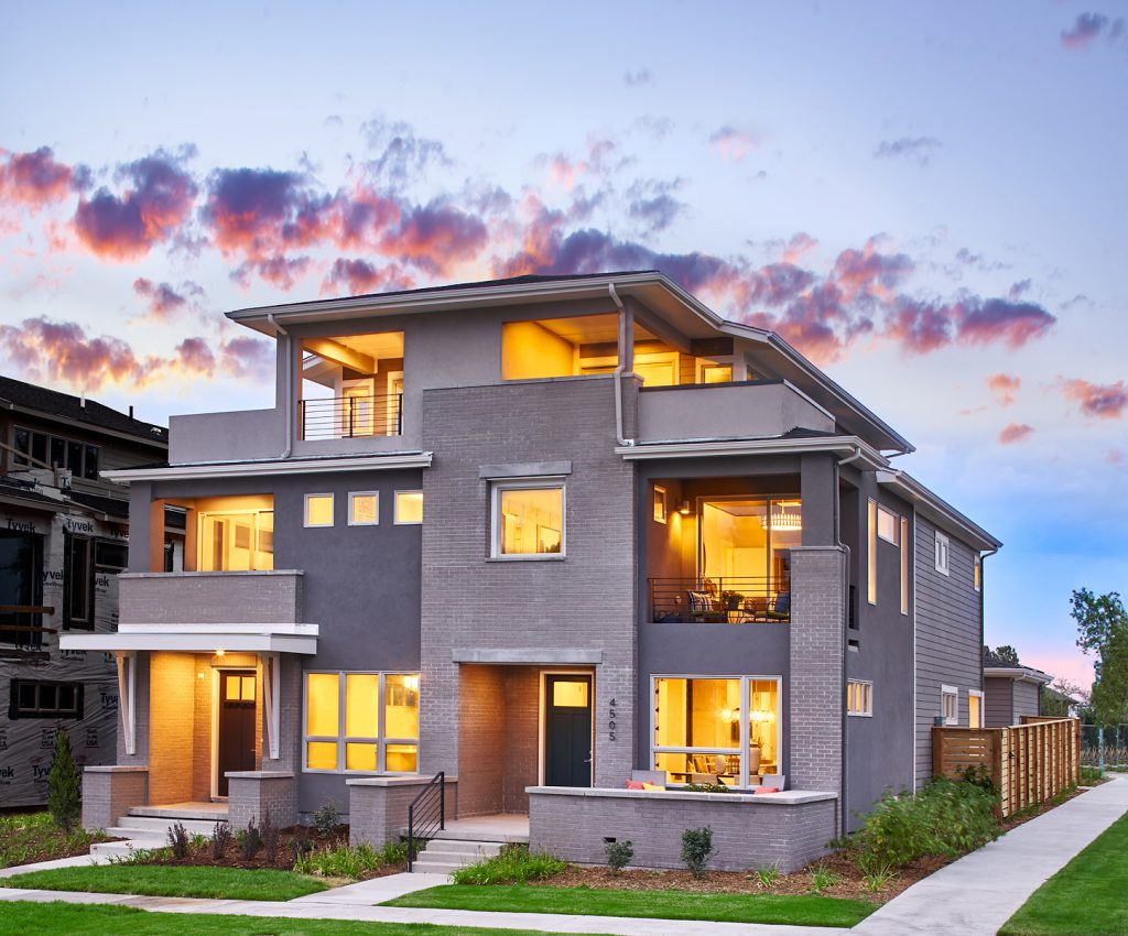 3 story paired urban home at 5390