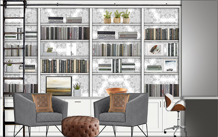 Study filled with books