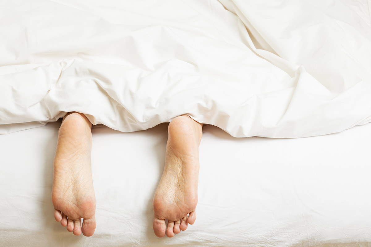 Person in bed