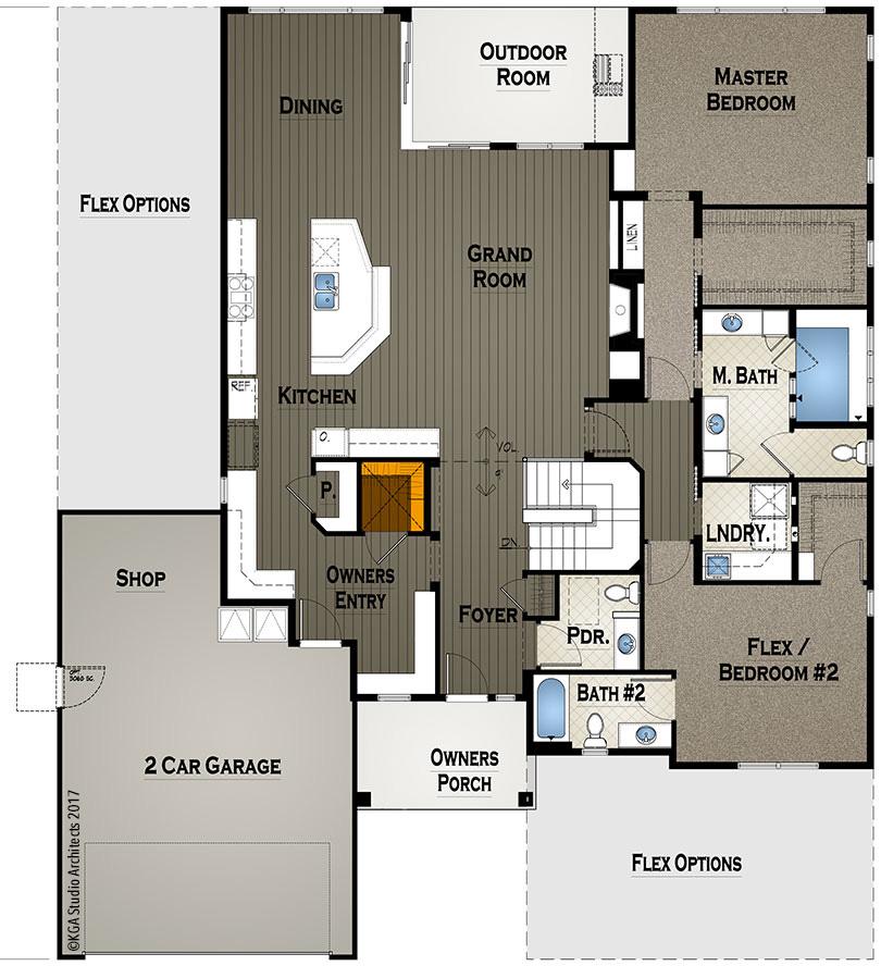 Floor plan for wellness house
