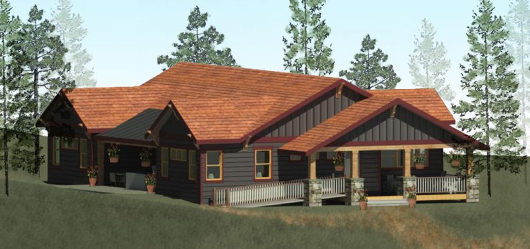 The design for the new staff living quarters at the Easterseals Rocky Mountain Village Camp