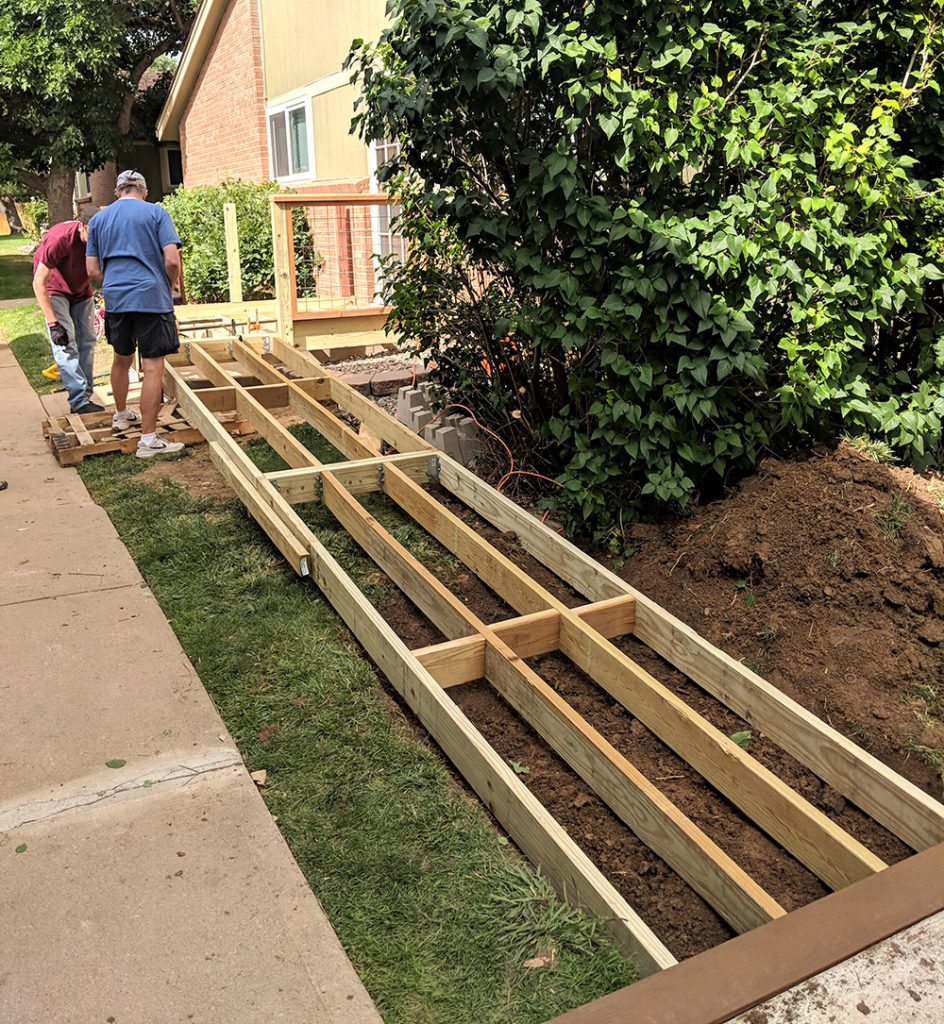 How To Build A Wooden Ramp Over Stairs