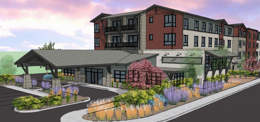 Future Trailhead Community 84 unit multifamily building