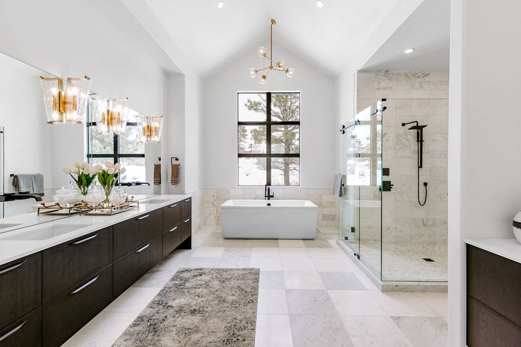 Get rid of invisible toxins in your home be avoiding items like air fresheners and scented cleaning products that are often found in bathrooms.