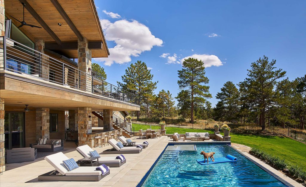 Colorado Golf Club custom home with pool by KGA