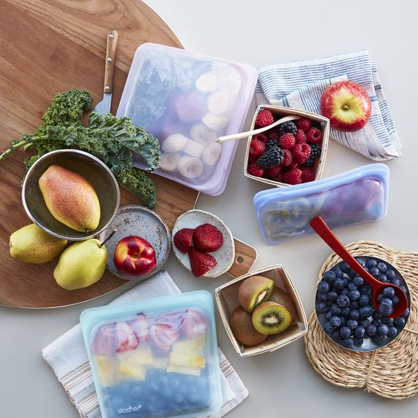 Reusable Stasher bags are a great way to improve sustainability in the kitchen