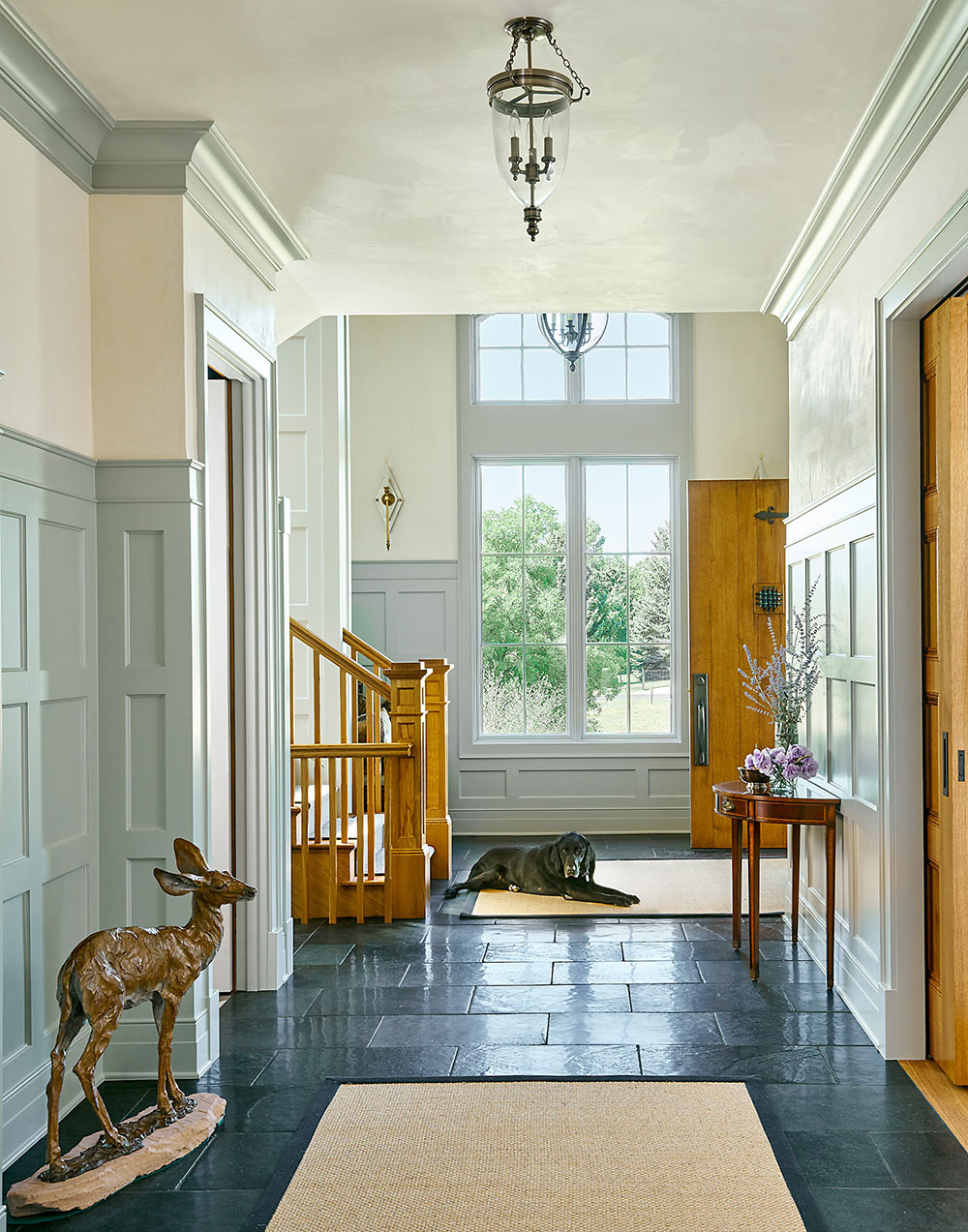 Front entry - Traditional Cherry Hills Village Custom Home - by KGA Studio Architects