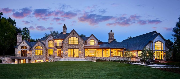 Front elevation of traditional cherry hills village remodel by KGA