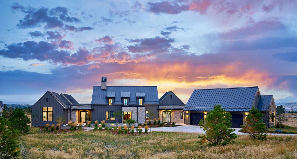 Contemporary Farmhouse Custom Home by KGA Studio Architects