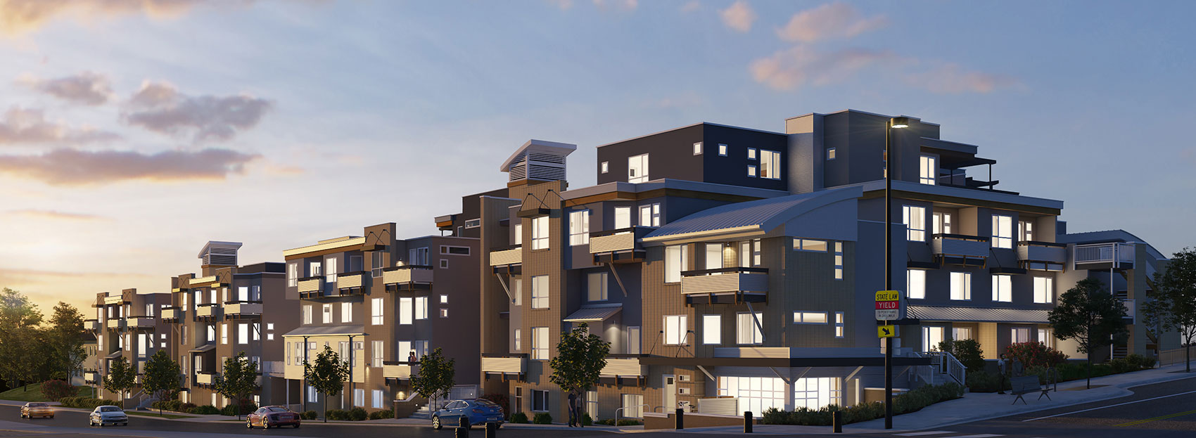 Multifamily project designed by KGA Studio Architects