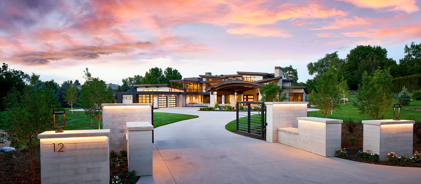 Modern Denver custom home designed by KGA Studio Architects