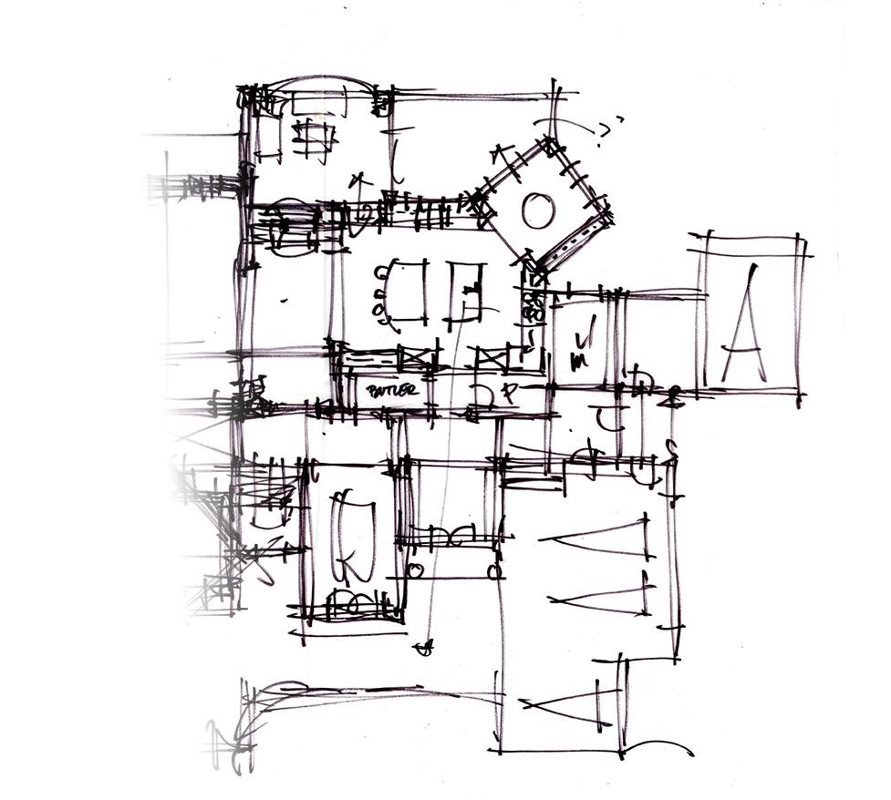 Example of rough schematic design sketch