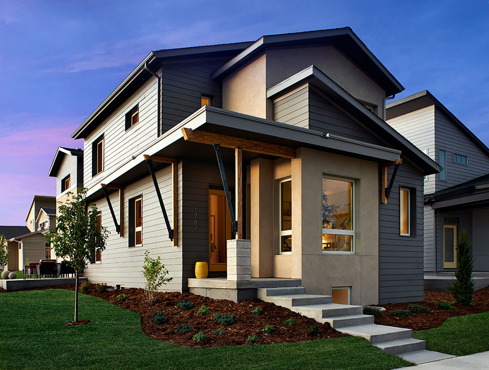 2-story home designs are good way to leverage design for cost management in home building. 2-story homes are more cost effective to build, since they require a smaller foundation and less land for the same amount of livable square footage.
