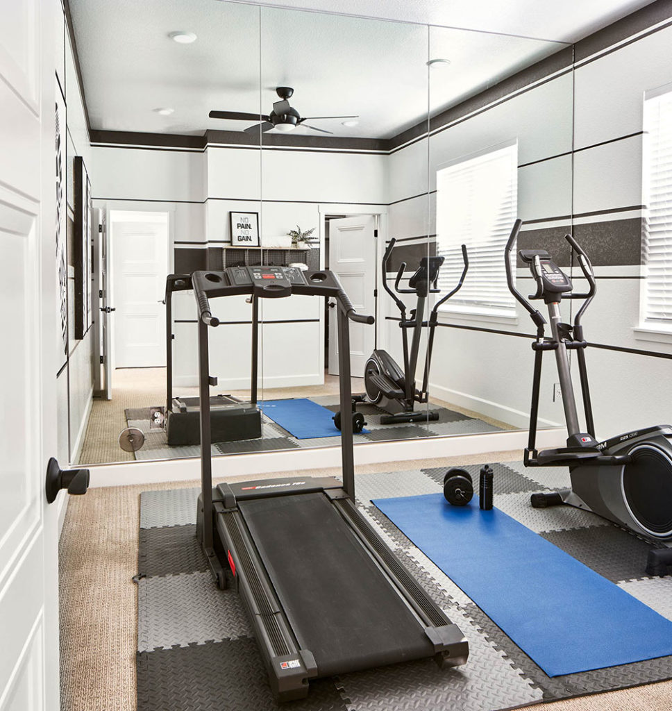 Promote health and wellness through architecture by including space for a home gym, yoga studio, or meditation room.